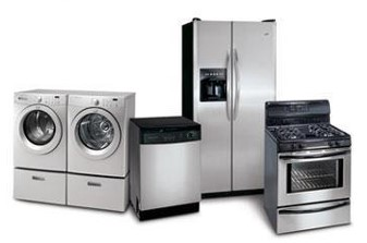 Fridges, washing machines, cookers, etc.